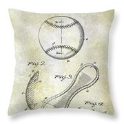 1924 Baseball Patent Throw Pillow