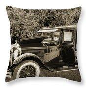 1924 Buick Duchess Antique Vintage Photograph Fine Art Prints 10 Throw Pillow