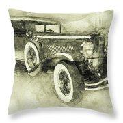 1928 Duesenberg Model J 3 - Automotive Art - Car Posters Throw Pillow