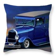 1928 Ford Tudor Sedan II Throw Pillow