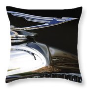 1929 Duesenberg Model J Hood Ornament Throw Pillow