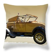 1930 Model A Ford Convertible Throw Pillow