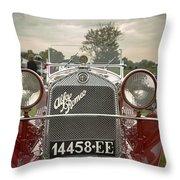 1931 Alfa Romeo Throw Pillow