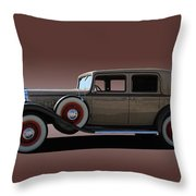 1932 Classic Buick 4 Door Sedan Throw Pillow