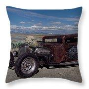 1932 Chevrolet Rat Rod Throw Pillow