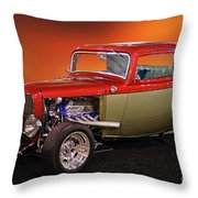 1932 Ford 'three Window' Coupe Throw Pillow