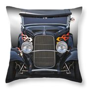 1932 Ford 'traditional' Hot Rod Roadster Throw Pillow