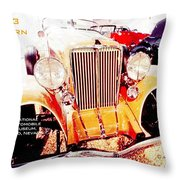 1933 Auburn Classic Automobile Throw Pillow
