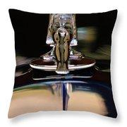1934 Packard Hood Ornament 3 Throw Pillow