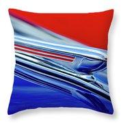 1938 Chevrolet Hood Ornament 2 Throw Pillow by Jill Reger