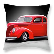 1938 Ford Five-window Coupe II Throw Pillow