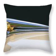 1941 Lincoln Continental Hood Ornament 2 Throw Pillow