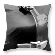 1949 Studebaker Champion Hood Ornament Throw Pillow