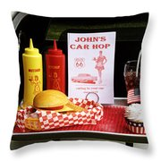 1950's Drive-in Throw Pillow