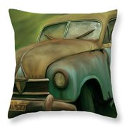 1950's Vintage Borgward Hansa Sports Coupe Car Throw Pillow