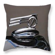 1952 Triumph Renown Limosine Radiator Cap Throw Pillow