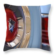 1954 Mercury Monterey Merco Matic Spare Tire Throw Pillow
