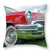 1955 Buick Rodmaster Throw Pillow