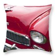 1955 Chevrolet Bel Air Hood Ornament Throw Pillow