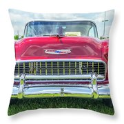 1955 Chevy Bel Air Throw Pillow