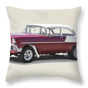 1956 Chevrolet 210 Coupe 'gasser Style' Throw Pillow
