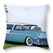 1956 Chevrolet Bel Air Nomad Wagon Throw Pillow