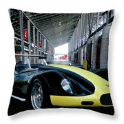 1956 Lister Cambridge Roadster Throw Pillow