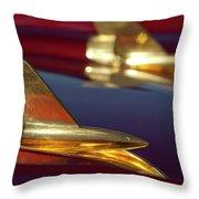 1957 Chevrolet Hood Ornament Throw Pillow