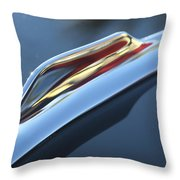 1959 Cadillac Eldorado Hood Ornament Throw Pillow