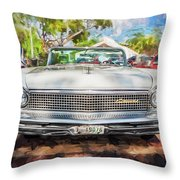 1959 Lincoln Continental Town Car Mk Iv Painted  Throw Pillow