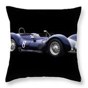 1960 Maserati T61 Racecar Throw Pillow