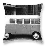1960 Volkswagon Microbus Throw Pillow