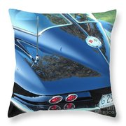 1963 Corvette Throw Pillow
