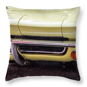 1965 Yellow Sting Ray Front Bumper Throw Pillow