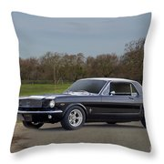 1966 Ford Mustang Coupe I Throw Pillow