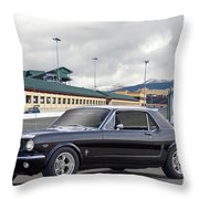 1966 Ford Mustang Coupe II Throw Pillow