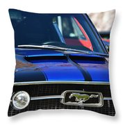 1967 Mustang Fastback Throw Pillow