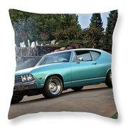 1968 Chevelle Malibu II Throw Pillow
