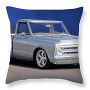 1969 Chevrolet C10 Pickup 'studio' 1 Throw Pillow