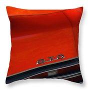 1969 Pontiac Gto The Judge Throw Pillow