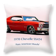 1970 Chevelle Ss454 Throw Pillow