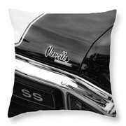 1970 Chevrolet Chevelle Ss 396 Throw Pillow
