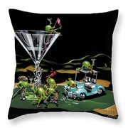 19th Hole Throw Pillow by Michael Godard