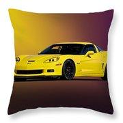 2008 Corvette Z06 Coupe Throw Pillow