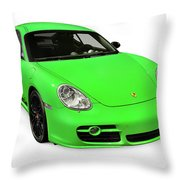 2008 Porsche Cayman S Sport Throw Pillow