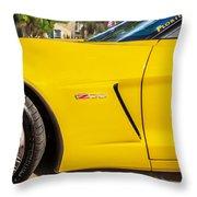 2013 Chevrolet Corvette Zo6 Painted Bw  Throw Pillow