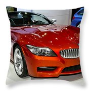 2014 Bmw Z4 Roadster Sdrive35is Throw Pillow