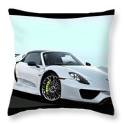 2014 Porsche 918 Spyder II Throw Pillow
