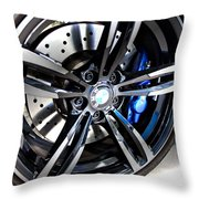 2015 Bmw M4 Throw Pillow by Aaron Berg