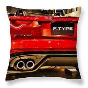 2016 Jaguar F-type Throw Pillow